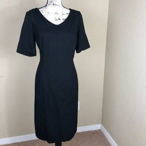 Talbots Little Black Short Sleeve Knit Dress 10